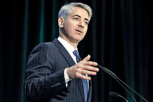 File photograph of William Ackman speaking to Canadian Pacific Railway Ltd. shareholders in Toronto